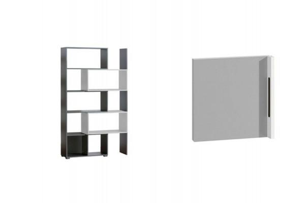 Bookcase CUBICO CU11 Aluminum + Door