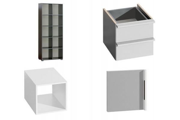 Bookcase CUBICO CU9 With Aluminum Extensions