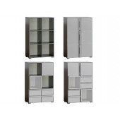 Bookcase Cubico With Aluminum Extensions