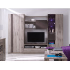 Wall Unit 280 ORLANDO San Remo / Brown Gloss