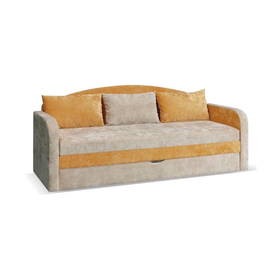 Orange sofa bed TENUS T