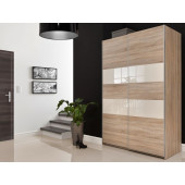 Wardrobes - Wardrobe 140 BRICO WHITE GLOSS