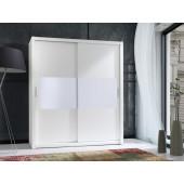 Wardrobes - Wardrobe 180 Front 4 - White