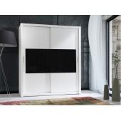 Wardrobes - Wardrobe 180 Front 3 - White