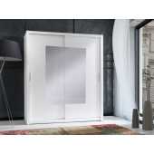 Wardrobes - Wardrobe 180 Front 2 - White