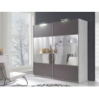 Wardrobe DIONE Mirror / Grey