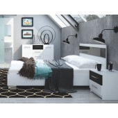 Bedroom Sets - Bed Dubai Black/White