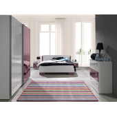 Bedroom Furniture Arrangement Lux Purple Gloss