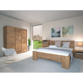 Bedside Cabinets - Bedroom Set Montana Dark Oak Lefkas