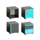 Bedside Cabinets - Cabinet CUBICO CU17 With...