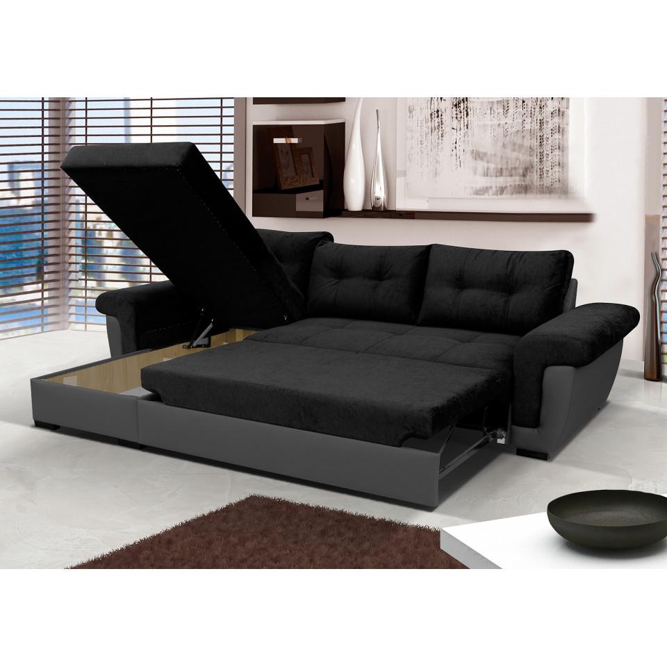 Cheap Black Corner Sofa Amber Sofafox
