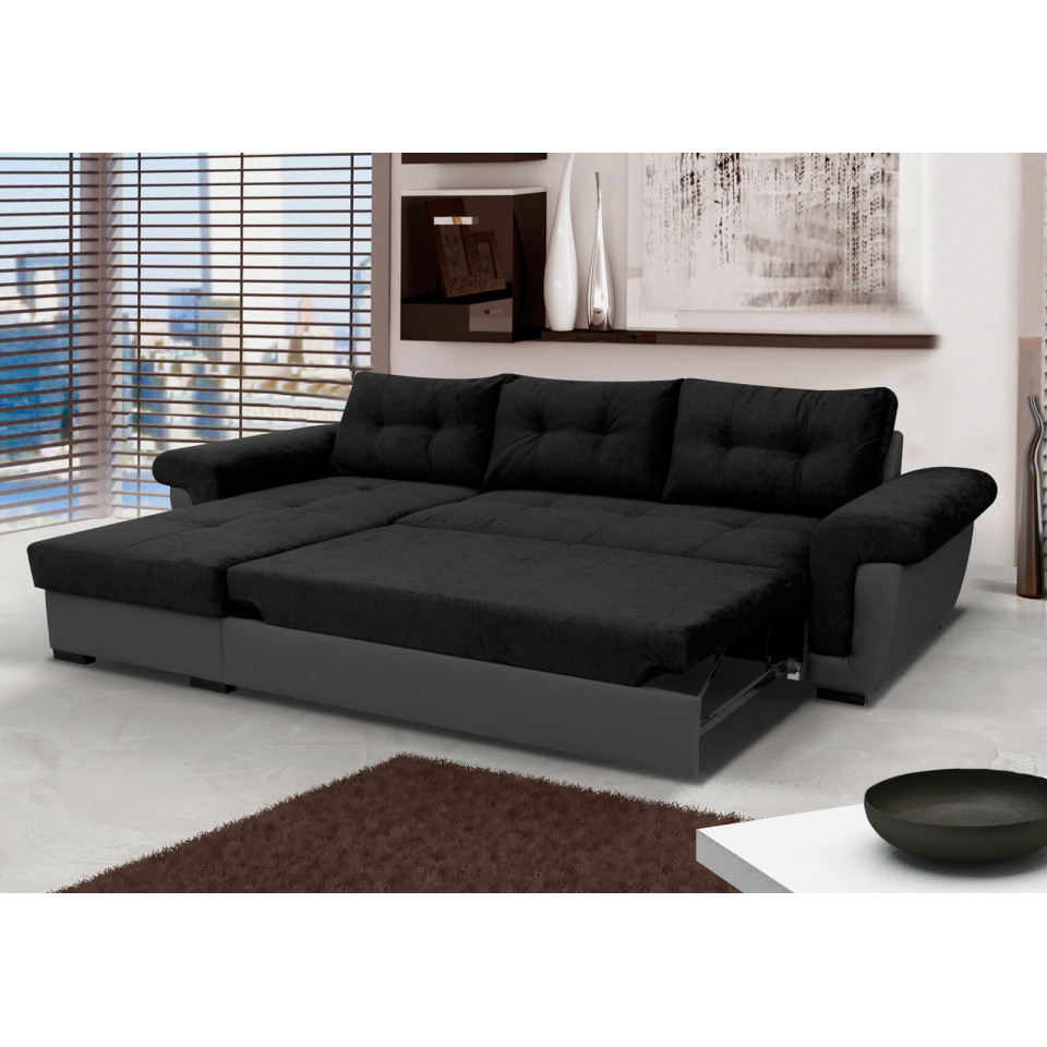 Cheap Black Corner Sofa Amber