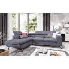 ARRATA - corner sofa bed with storage and adjustable headrests