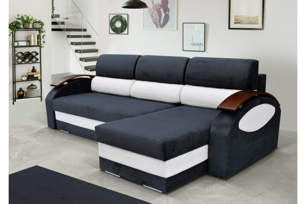 GRETA - corner sofa bed with two storages