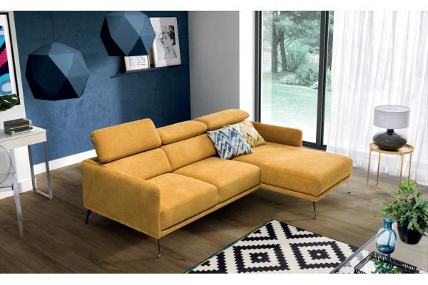 SIDOLO - corner sofa  with adjustable headrests
