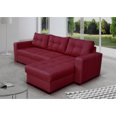 Corner Sofa Bed - ONYX BURGUNDY