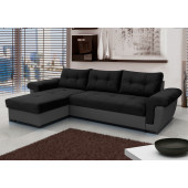New products - AMBER - black corner sofa bed